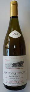 Clavelier & Fils Santenay 1-er Cru, 2008, Passetemps, Blanc,  0,75l